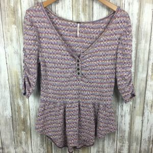 Free people boho top M Urban Outfitters woven